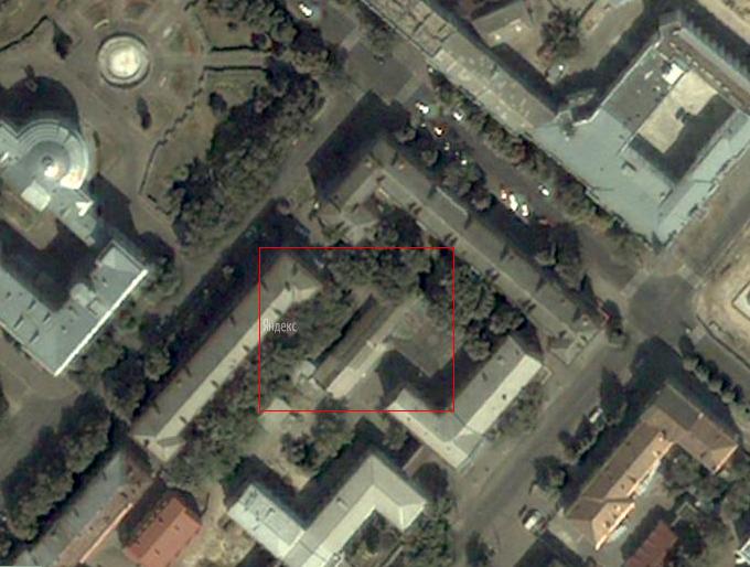 Супутникова карта Черкас (фрагмент)